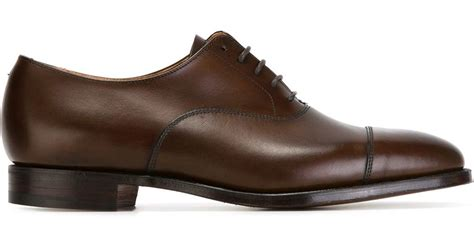 classic oxford shoe crockett and jones classic oxford shoes in brown for