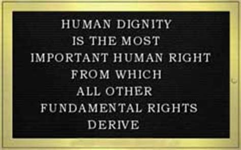 right meaning human dignity definition