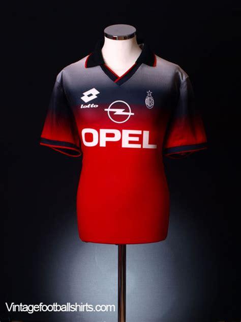 Sale Kaos Afrakids Size Xl 1 1995 96 ac milan lotto shirt xl for sale