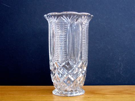 Antique Celery Vase by 1930s Glass Vintage Celery Vase Vintage Serving Vintage