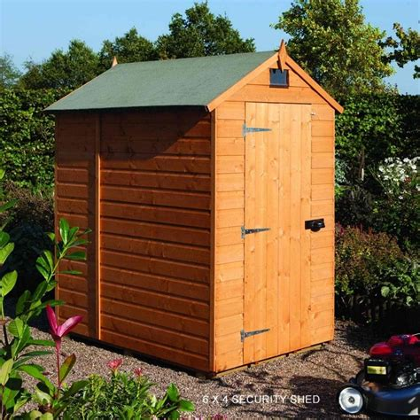 4x6 Wood Shed Rowlinson Security Shiplap Apex Shed 4x6 Garden