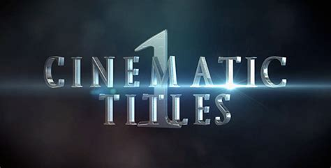 Cinematic Titles 1 Miscellaneous Envato Videohive After Effects Templates Cinematic Title After Effects Template