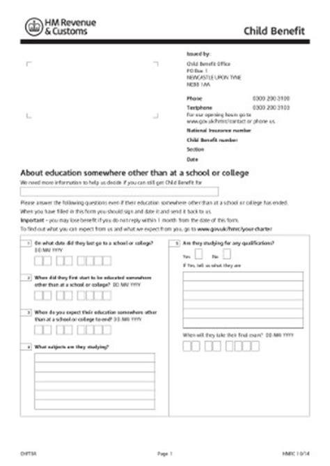 Award Letter Child Benefit Child Benefit Form Child Benefit Claim Form Sle Child