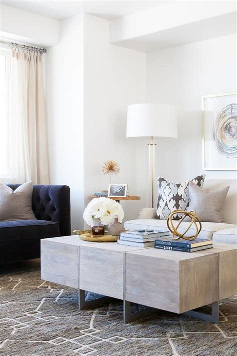 White Tufted Sofa Blue And Gray Living Room Ideas Grey by Blue And Gray Living Room Design Contemporary Living Room