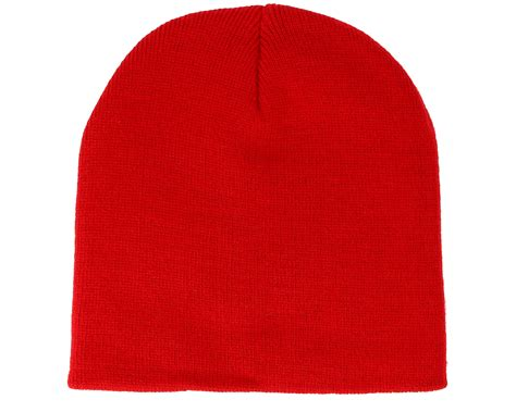 classic red knitted short classic red beanie beanie basic bonnet