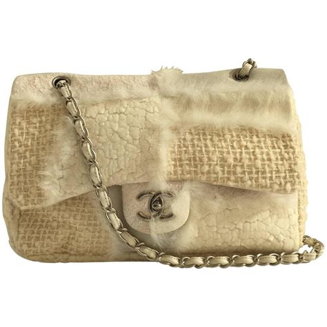 Introducing Chanel Faux Croc Purse by Chanel Patchwork Faux Fur Bag For Sale At 1stdibs