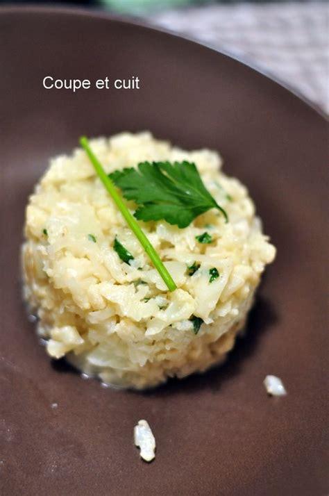 couper chou fleur risotto de chou fleur coupe et cuit
