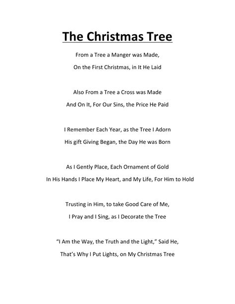 the little christmas tree poem the tree poem by k ross my friend in jesus