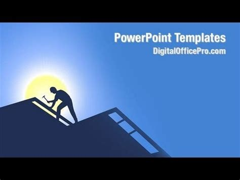 youtube powerpoint templates roofing powerpoint template backgrounds digitalofficepro