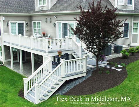 two story deck archadeck of suburban boston burlington ma 01803