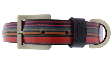 tough collars tough ghost leather collar pet supplies stripe leather