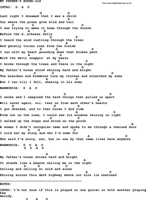 my house the song bruce springsteen song my father s house lyrics and chords