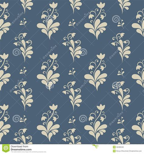 floral ornate seamless pattern royalty free stock images