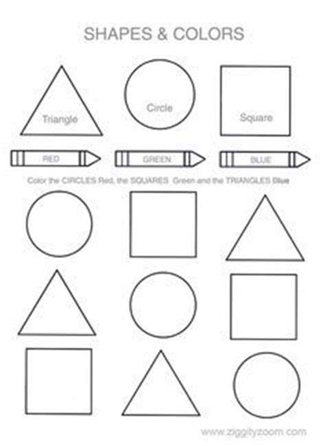 printable shapes for 3 year olds shapes colors printable worksheet pinterest creative