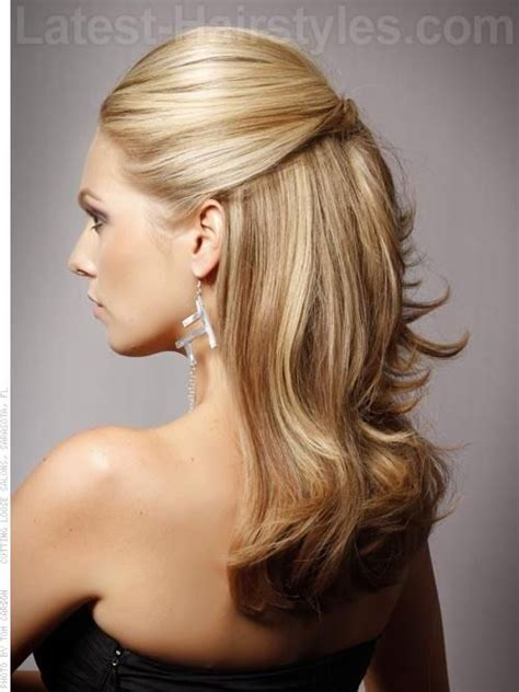 mother of the bride hairstyles partial updo mother of the bride hairstyles for long dark hair 13