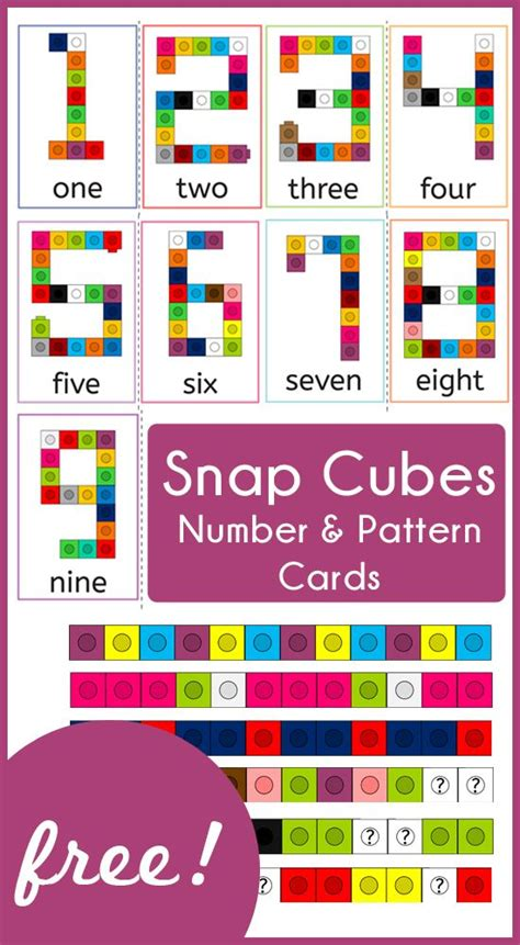 number pattern lesson ideas snap cubes number and pattern cards cube number and math