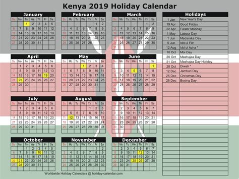kenya   holiday calendar