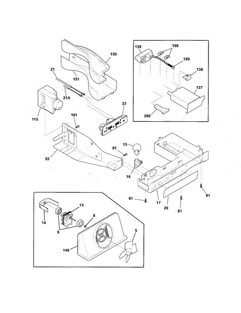 frigidaire refrigerator parts diagram refrigerator parts frigidaire side by side refrigerator
