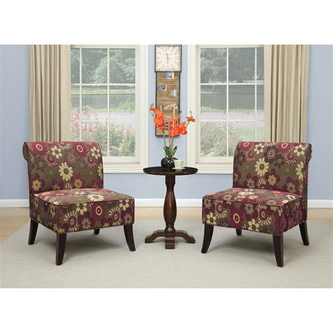 Accent Chair And Table Set by Ave Six 3 Chair And Accent Table Set Wayfair