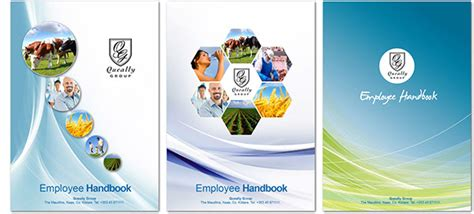 Queally Group Employee Handbook Cover Design On Behance Employee Handbook Cover Design Template