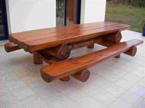 table bancs d ext 233 rieur en rondins pour 12 personnes