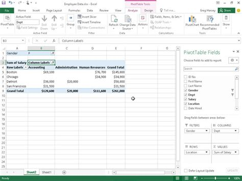 Filter Pivot Table by How To Filter Pivot Table Data In Excel 2016 Dummies