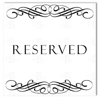 Belletristics Stationery Design And Inspiration For The Reserved Table Sign Template