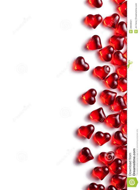 imagenes en blanco de corazones corazones de cristal rojos en el fondo blanco imagen de