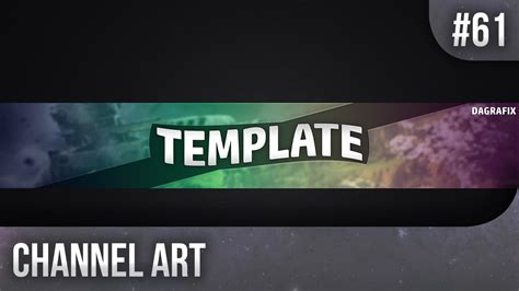 photoshop template youtube channel art simple channel art template 61 free photoshop download