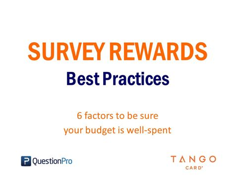 Online Survey Rewards - survey rewards best practices slideshare cover jpg