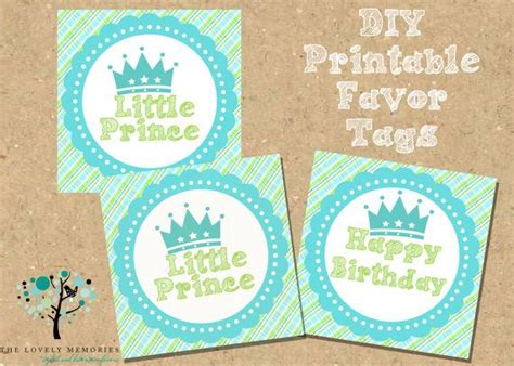 free printable crown cupcake toppers little prince crown printable diy favor tags cupcake