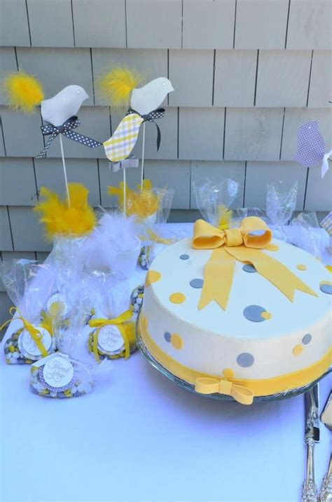 Yellow And Grey Baby Shower Cake by Yellow And Gray Dot Baby Shower Cake Baby Shower Ideas