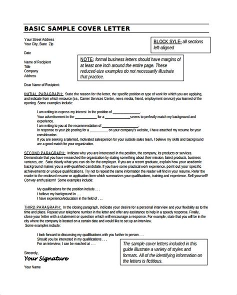 sample cover letter examples ms word