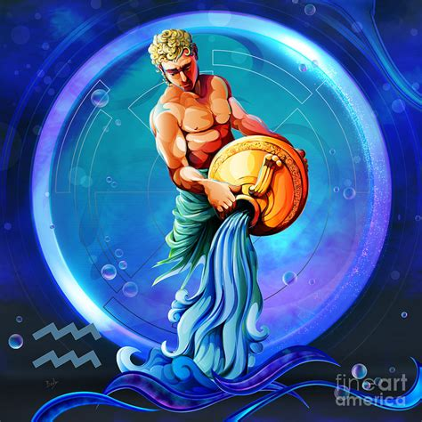 Home Decor Industry by Horoscope Signs Aquarius Digital Art By Peter Awax