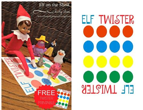 free printable elf on the shelf twister game 47 ideas for your mischievous elf on a shelf ritely