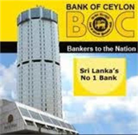 boc e bank investsrilanka sri lanka s bank of ceylon takes stock