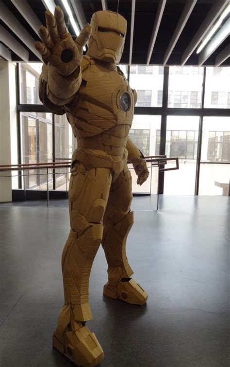 amazing full size cardboard iron man suit geektyrant