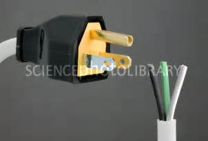 north american mains plug and wiring stock image c005