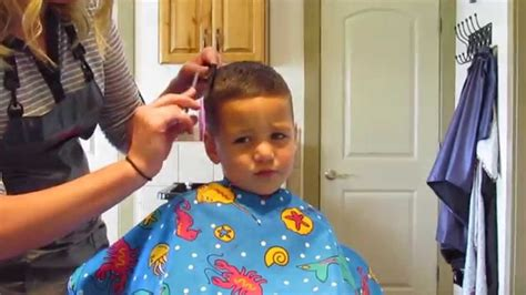 3 year old boy haircut how to cut little boy haircut youtube