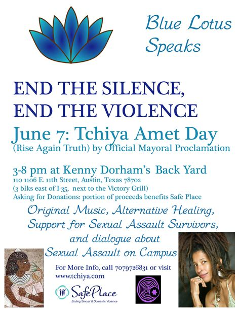 The Blue Lotus Pdf End The Silence End The Violence The Blue Lotus Speaks