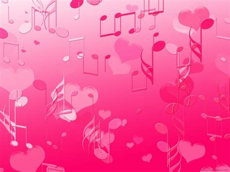 cute heart themes pink music theme music notes pink hearts 193317