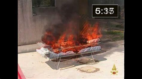 test materasso test incendio materassi
