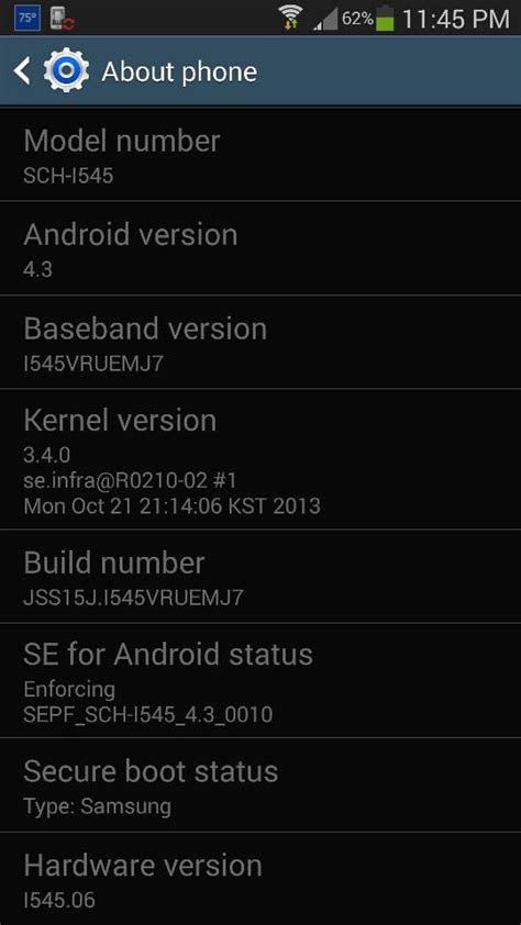 android version 4 4 4 verizon galaxy s4 software update page now lists android 4 3 ota version i545vruemj7 update it