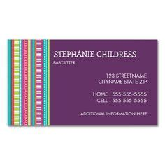 babysitting business card template 1000 images about babysitting on business