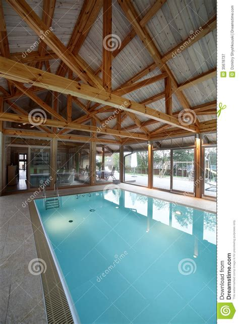 interior swimming pool houses interior of swimming pool inside of house royalty free stock photography image 35678737