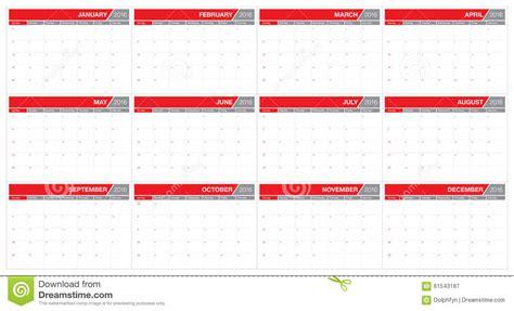 Table Calendar 2016 2016 Table Calendar Stock Photo Image 61543187