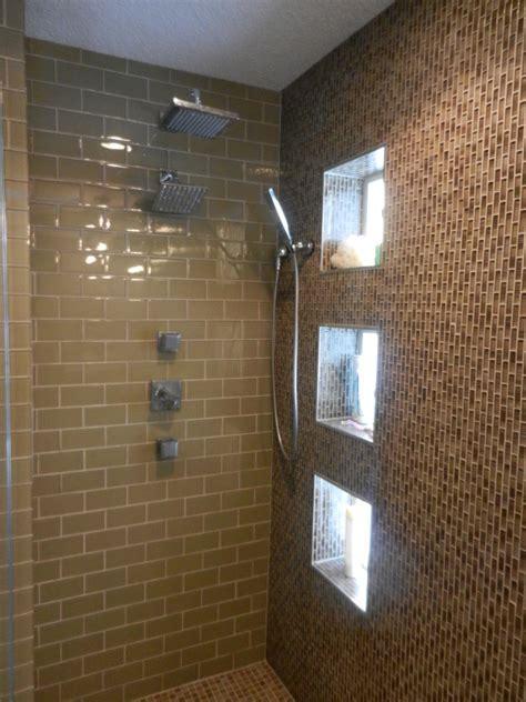custom walk in showers Spaces Craftsman with body sprays