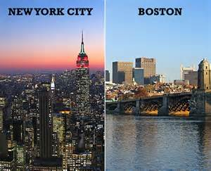 Map From New York To Boston by Outromundo Com Boston Vs New York