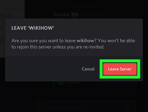 discord delete server how to leave a discord server on a pc or mac 5 steps