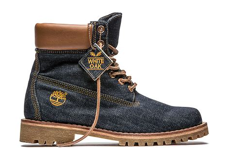 limited edition white oak denim boot collection timberland